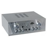 Skytec Karaoke zesilovač FM / USB / SD, stříbrný