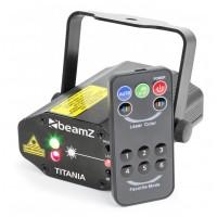 BeamZ Titania Double laser, 200mW RG, Gobo IRC