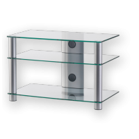 Sonorous LF 6130  B-SMK - stolek černá skla, kouřové nohy