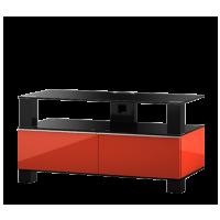 Sonorous MD 9095 B-HBLK-BLK – černé sklo / kov černý lesk / skříňky černá Čierna