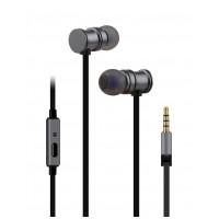 av:link sluchátka In-Ear Magnetic, hands free, šedá metalíza