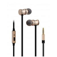 av:link sluchátka In-Ear Magnetic, hands free, zlatá metalíza