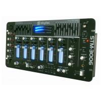 Skytec STM-3006, černý, 4-kanálový mixážní pult