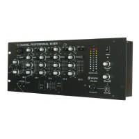 """Skytec STM-3004, 5 kanálový 19"""" mix pult"""
