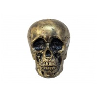 Europalms Halloween zlatá lebka, 20 cm