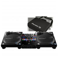 Pioneer DJ 2x PLX-1000 + DJM-S9 + DJC-S9 Bag