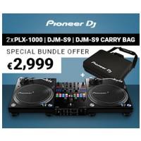 Pioneer DJ 2 x PLX-1000, 1 x DJM-S9, 1 x DJC-S9 BAG BUNDLE
