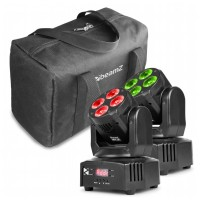 BeamZ MHL36 Moving head SET, 2ks v softbagu