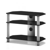 Sonorous Neo 370  B-SLV černé sklo / stříbrné nohy