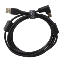 UDG Ultimate Audio Cable USB 2.0 A-B Black Angled 3m