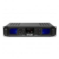 Skytec SPL 300MP3 Amplifier blue LED + EQ  Černá