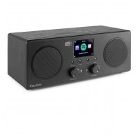Audizio Bari internetové Wi-Fi stereo DAB+ rádio Černá