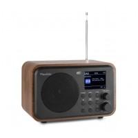 Audizio Milan přenosné DAB+ rádio s baterií Hnědá