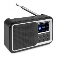 Audizio Anzio přenosné DAB+ rádio s baterií Černá