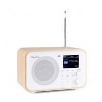 Audizio Milan přenosné DAB+ rádio s baterií Bílá