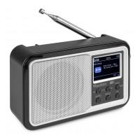 Audizio Anzio přenosné DAB+ rádio s baterií Stříbrná