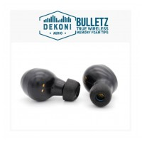 DEKONI AUDIO Premium Memory Foam Isolation Earphone Tips Black - True Wireless  (Sample Pack)