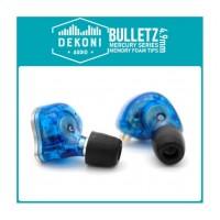 DEKONI AUDIO Premium Memory Foam Isolation Earphone Tips Black - Mercury 4.9 mm (3 pack) Small, medium, large