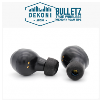 DEKONI AUDIO Premium Memory Foam Isolation Earphone Tips Black  True Wireless Small