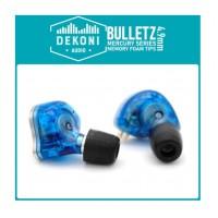 DEKONI AUDIO Premium Memory Foam Isolation Earphone Tips Black - Mercury 4.9 mm  Large 13 mm