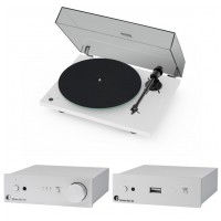 ProJect Set Best of Both Worlds - T1 phono SB/Stereo Box S2/Stream Box S2 White/Silver