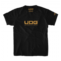 UDG T-Shirt UDGGEAR Logo Black/ Gold XL