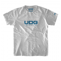 UDG T-Shirt UDGGEAR Logo White/Blue XL
