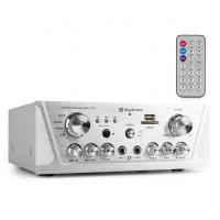 Skytec AV420B Karaoke zesilovač FM / USB / SD Stříbrný