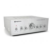 Skytronic AV400 karaoke zesilovač Basic Stříbrný