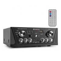 Skytec AV420B Karaoke zesilovač FM / USB / SD Černý