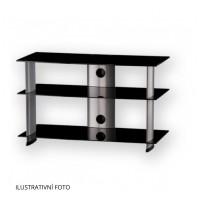 Sonorous PL 3105  B-SLV - čierne sklo / strieborné nohy