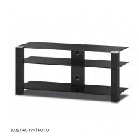 Sonorous PL 3400  B-HBLK - čierna skla / lesklé čierne nohy
