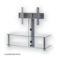 Sonorous PL 2300  C - SLV - stolík 2 police, strieborný, číre sklá