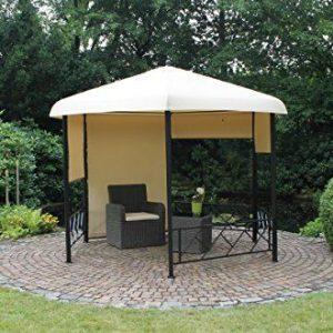 Dreams4Home-Pavillon-Capua-V-Terrassenberdachung-Pergola-Terrassendach-Sonnendach-berdachung-BHT-ca-350-x-260-x-350-cm-Garten-in-natur-0