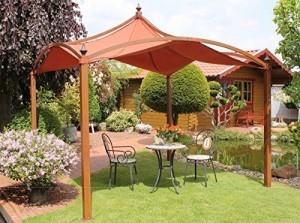 Dreams4Home-Pavillon-Capua-XI-Terrassenberdachung-Pergola-Terrassendach-Sonnendach-berdachung-BHT-ca-300-x-320-x-300-cm-Garten-in-Holzfarben-0