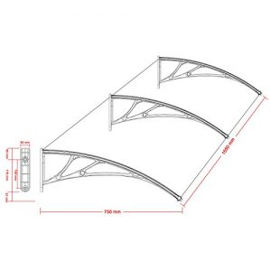 Songmics-150-x-80cm-Vordach-berdachung-Transparentes-3mm-dicke-GVH158-0-1