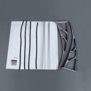 Songmics-Vordach-120-x-80-cm-Transparentes-berdachung-3mm-dicke-Polycarbonat-0-3