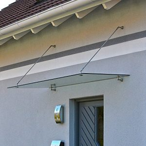 Home-Deluxe-Glasvordach-Verbundsicherheitsglas-VSG-Verschiedene-Gren-V2A-rostfreies-Edelstahlzubehr-0
