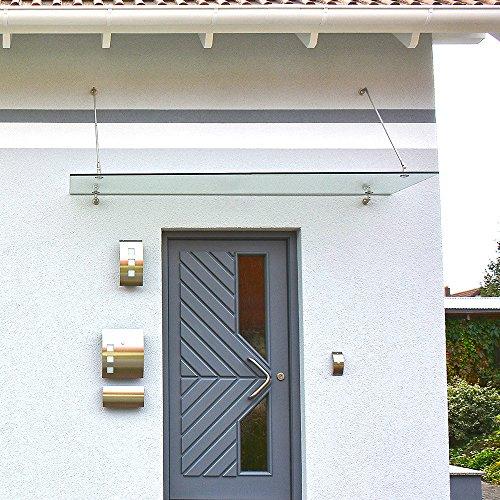 Home-Deluxe-Glasvordach-Verbundsicherheitsglas-VSG-Verschiedene-Gren-V2A-rostfreies-Edelstahlzubehr-0-0