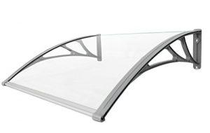 Classic-Vordach-120-x-100-cm-Silber-Haustrdach-Haustr-Pultvordach-Haustr-Dach-Kunststoff-Alu-0