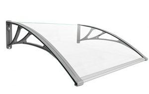 Classic-Vordach-150-x-100-cm-Silber-Haustrdach-Haustr-Pultvordach-Haustr-Dach-Kunststoff-Alu-0