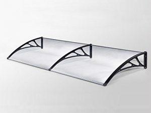 Classic-Vordach-190-x-100-cm-Schwarz-Haustrdach-Haustr-Pultvordach-Haustr-Kunststoff-Alu-0