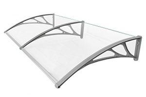 Classic-Vordach-190-x-100-cm-Silber-Haustrdach-Haustr-Pultvordach-Haustr-Kunststoff-Alu-0