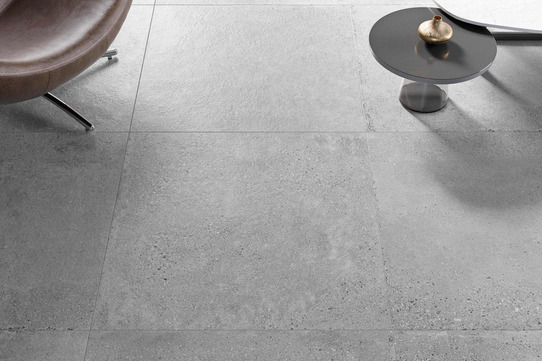 Gijze betonlook tegels