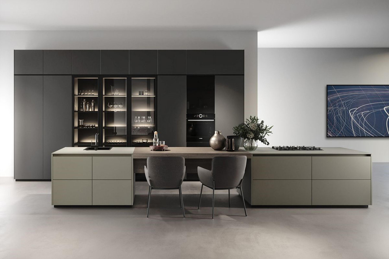 Luxe moderne keuken met dubbel eiland