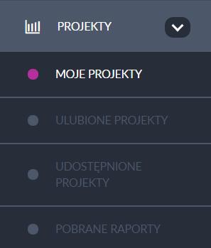 menu - projekty
