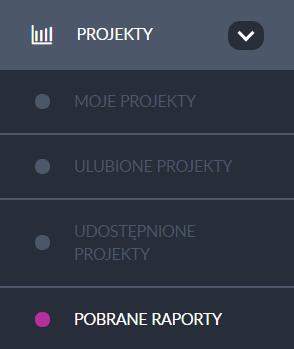 menu pobrane projekty
