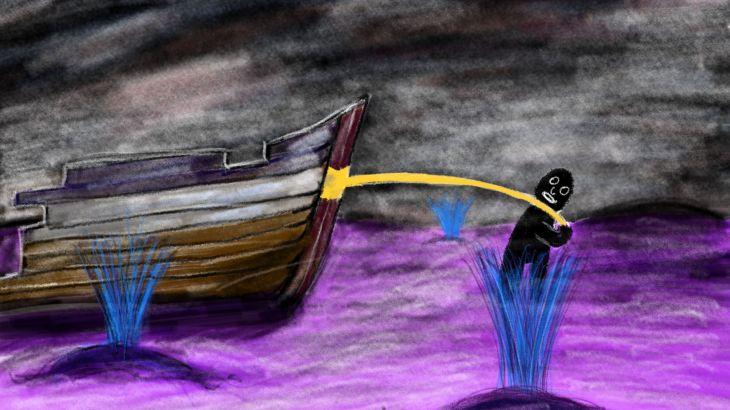 Moby Dick, at last Queequeg speaks