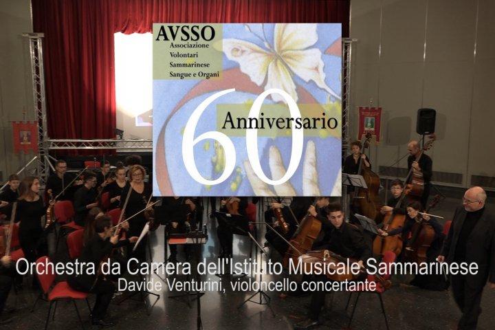 Il concerto dell'Istituto musicale sammarinese per i 60 anni di Avsso