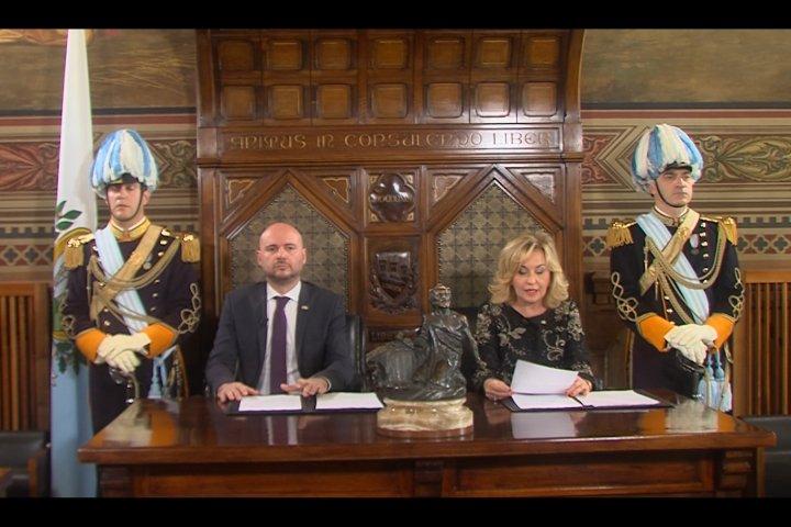 Messaggio di fine anno dei Capitani Reggenti Luca Boschi e Mariella Mularoni